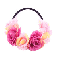Pink Angel Floral Crown