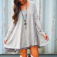 Twist & Shout Dress - Grey