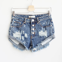 Trixie Button Shorts