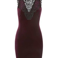 Lace Bib Velvet Mini Dress - New In This Week - New In