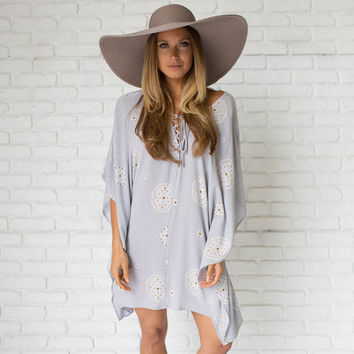 Lilac Printed Cover-Up