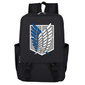 Cool Attack on Titan (capacity :20.16 Litre) Anime  Scouting Legion Wing oxford Backpack School Shoulder Bag Cosplay Laptop Rucksack AT_90_11