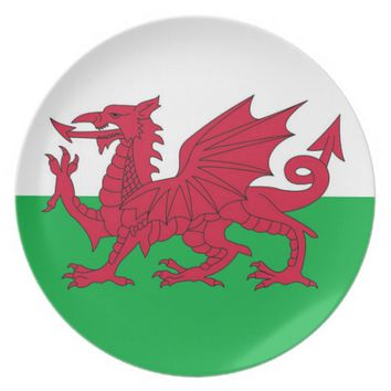Wales Flag Plate