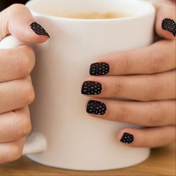Minx Nails Black Sparkley Jewels