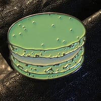 Combo pack pink and green macaron enamel pins
