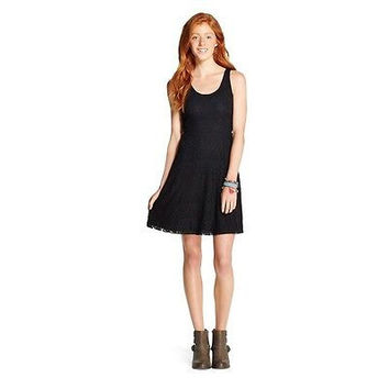 Mossimo Supply Co. Solid Skater Dress, Small, Black