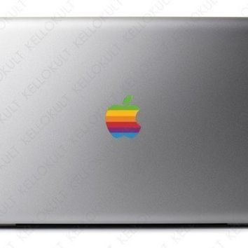 Macbook Apple Retro Logo Overlay by kellokult on Etsy
