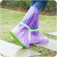 Reusable Rain Shoes Cover Women/Men/Children Thicken Waterproof High Tube Boots Sets Cycle Rain Flat Slip-resistant Overshoes