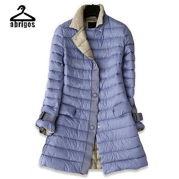 women down jacket 2017 women's winter coat long womens down jackets for girls autumn parkas ladies feather coats female park YH1