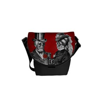 Grunge Skull Skeleton Couple Messenger Bags