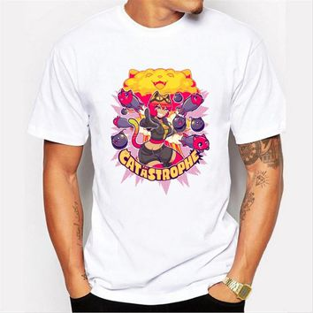 New Arrivals Funny catwoman  Design Men's T Shirt Boy Cool Style Tops Casual T-shirt