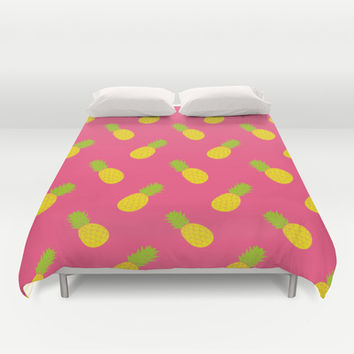 Pineapple Pattern Duvet Cover by Ariel Lark