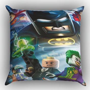 lego marvel super heroes batman Y1230 Zippered Pillows  Covers 16x16, 18x18, 20x20 Inches