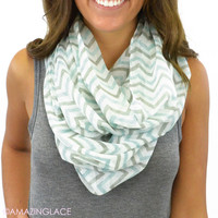 East Point Chevron Infinity Scarf - Ivory