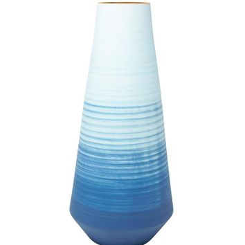Appealing Decorative Ceramic Vase, Blue - SageBrook Home