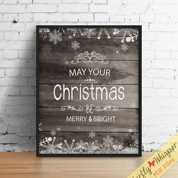 Christmas wish print, christmas decoration, christmas wish, christmas quote, seasons greeting, christmas typoghraphy wall art printable