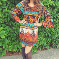 Nicely Native Dress: Multi