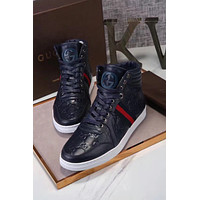 Gucci Men's Glitter Web High-Top Sneaker, Black (Nero) 429598