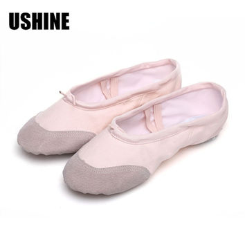 According The CM To Buy, Pink Ballet Dance Shoes For Children Girls woman Yoga Slippers Indoor Exercising Shoes Free Shipping