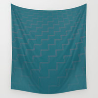 Teal Trap Wall Tapestry by RichCaspian