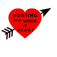 Nursing Is A Work Of Heart Decal, Nurse Decal, Custom Vinyl Decal, Nurse Gift, Nurse Quotes, Nurse Graduation Gift, Gifts for Nurses