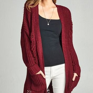 distressed long sweater cardigan (more colors)