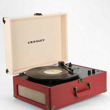 Crosley X UO AV Room Portable USB Vinyl Record Player- Red Multi One