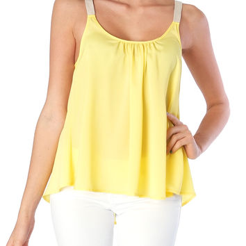 Popsicle Tank Top - Neon Yellow