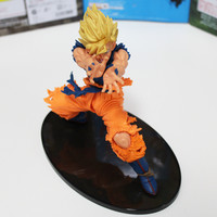 NEW Hot 1pcs 18cm Dragon Ball Z Super Saiyan KAMEHAMEHA Son Goku Kakarotto PVC Action Figure toys Christmas gift toy with BOX