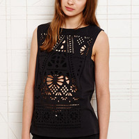 Truly Madly Deeply Beautiful Cutwork Tank at Urban Outfitters