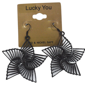 Rockabilly Angel Star - Star Wings Dangle Earrings