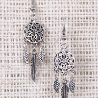 Dreamcatcher Feather Dangle Earrings