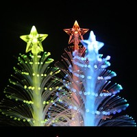 New Christmas Tree Light Mini Changing LED Optic Lights Xmas Tree Light Lamp Festival Party Home Decoration