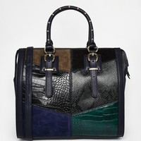 ALDO Structured Satchel with Patchwork Detail