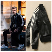 """Adidas"" Print Autumn Winter Sweatshirt Women and Men Leather Jacket [9255945799]"