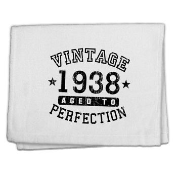 "80th Birthday Vintage Birth Year 1938 11""x18"" Dish Fingertip Towel by TooLoud"