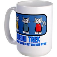 ST: Meow Trek4 Large Mug Large Mug by CafePress