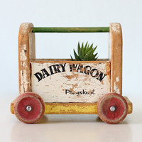 Vintage Dairy Wagon Toy by Playskool
