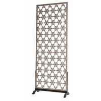 Arteriors Home Clarksdale Openwork Carved Wood/Iron Screen - Arteriors Home DD5000