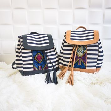 Boho Embroidered Backpack