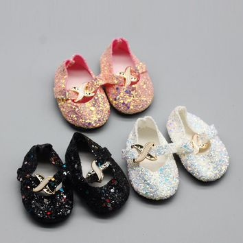 "1Pair shining Shoes For 18"" INCH american girl doll boots shoes dolls for Slippers Accessories Christmas birthday gift for baby"