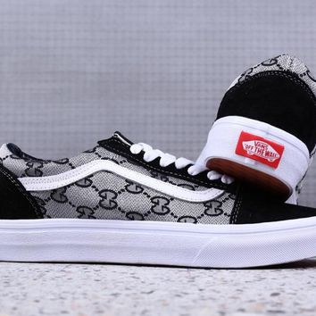GUCCI/Vans Old Skool Low-end leisure skateboards