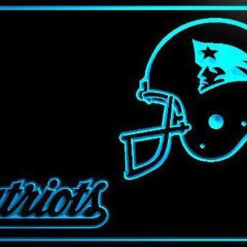 DCCKH6B New England Patriots Helmet Bar LED Neon Light Sign home decor crafts