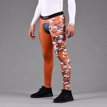 Arsenal Burnt Orange Dark Gray Digi Camo Tights for men