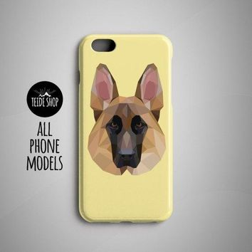 Geometric German Sheperd iPhone 7 Case iPhone 8 Plus Case iPhone 6S Plus Case Phone Case iPhone 8 Case iPhone 7 Plus Case Dog Lover Pet Gift