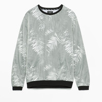 Nylon coated sweatshirt