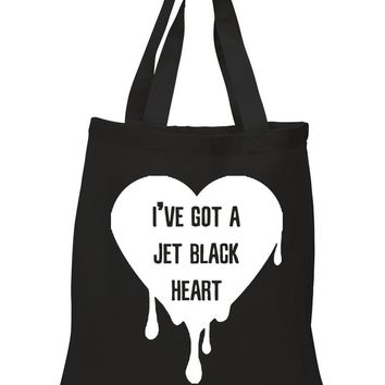 "5SOS 5 Seconds of Summer ""I've Got a Jet Black Heart"" Tote Bag"