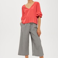 Ruffle Sleeve Top - Tops - Clothing