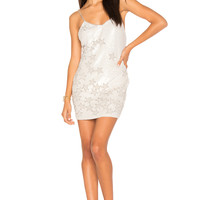 h:ours Charlize Beaded Dress in White | REVOLVE