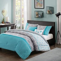 Intelligent Design Zara Reversible Comforter Set (Blue)